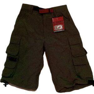 Khaki Green Cargo Shorts Boys Size 10 NWT